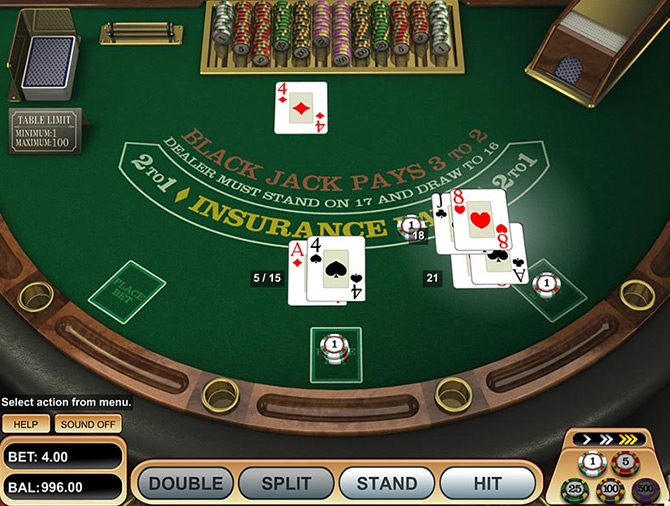 BonusBlackjack en ligne Betsoft Gaming