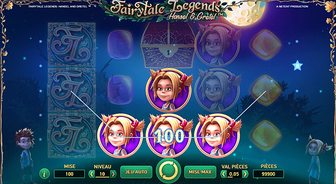 Jeu gratuit de casino NetEnt, Fairytale Legends : Hansel & Gretel