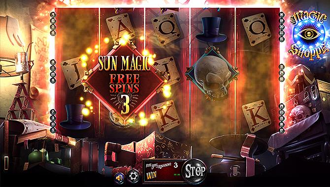 The Magic Shoppe, une machine à sous mystérieuse et très amusante
