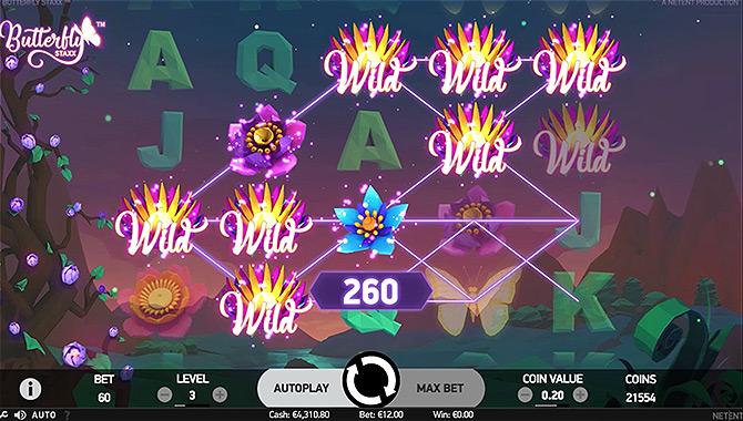 Butterfly Staxx, une machine à sous vidéo sans téléchargement, gratuite et originale !