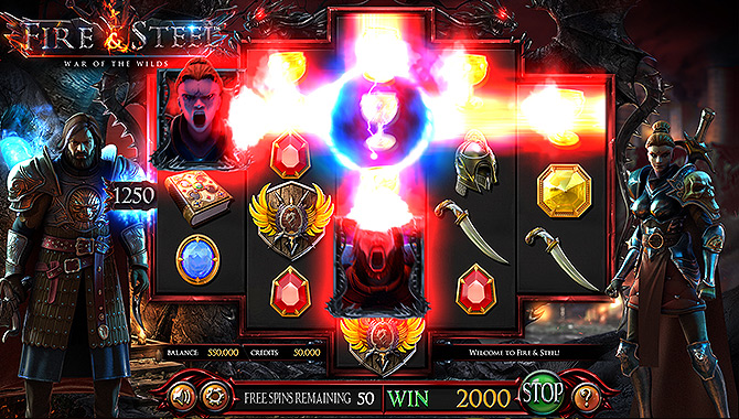 Jeu de casino style Game of Thrones - Machine à sous 3D