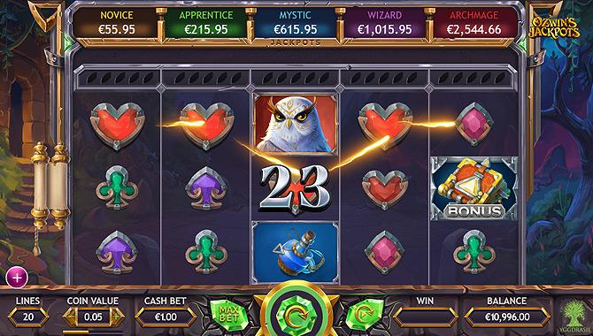 Bonus Jackpot progressif slot Yggdrasil