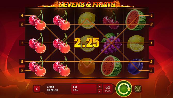 Machine à sous avec des fruits Playson : Sevens & Fruits