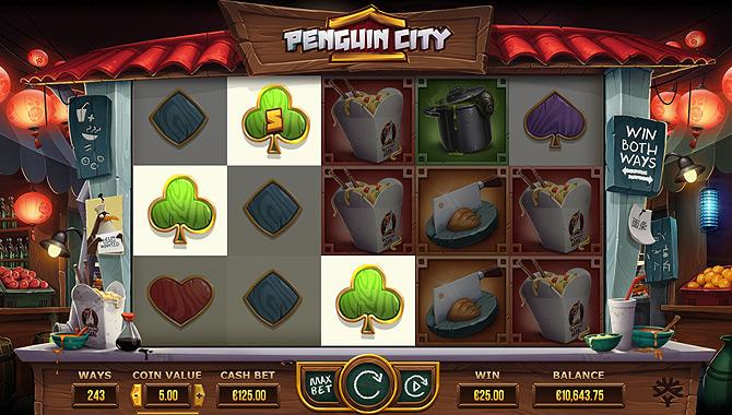 Machine à sous thème asiatique : Penguin City