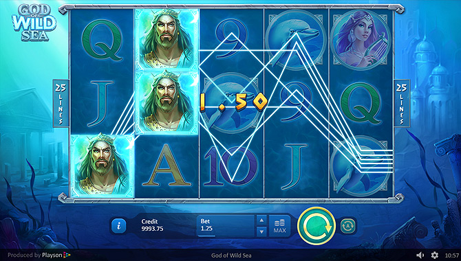 Jeu de casino en ligne Playson : God of Wild Sea