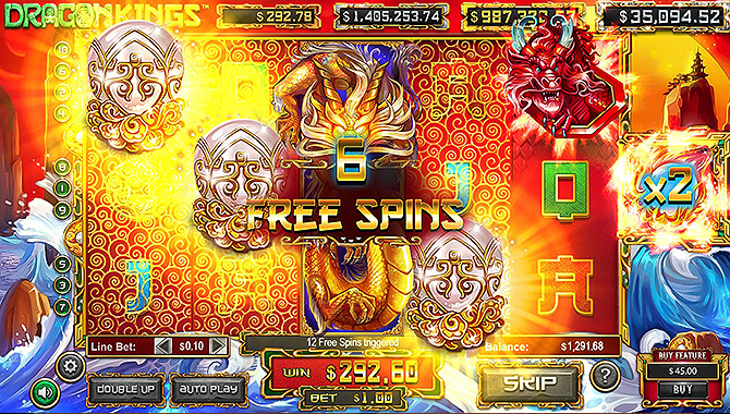Explosion de bonus sur la slot Dragon Kings !!