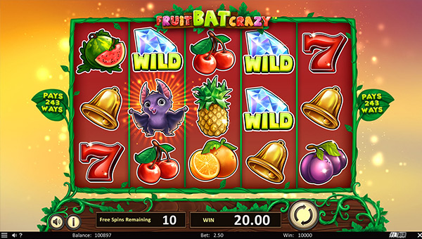 Casino jeu Betsoft Fruit Bat Crazy