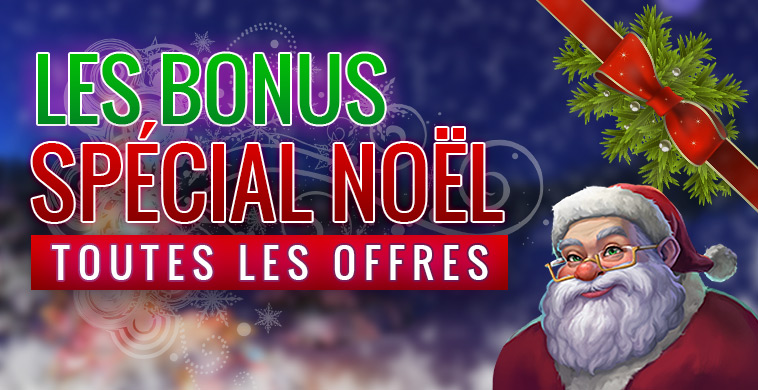 Bonus spécial Noël casino en ligne
