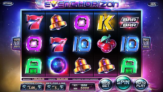 Jouer à la machine à sous 3D Event Horizon de Betsoft Gaming !