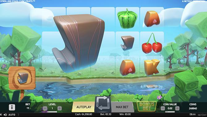 Strolling Staxx : Cubic Fruits, des fruits géométriques et de très gros gains à remporter !