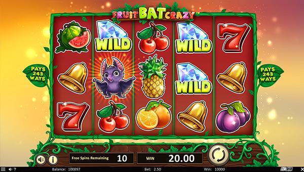 Casino jeu Betsoft Fruit Bat Crazy
