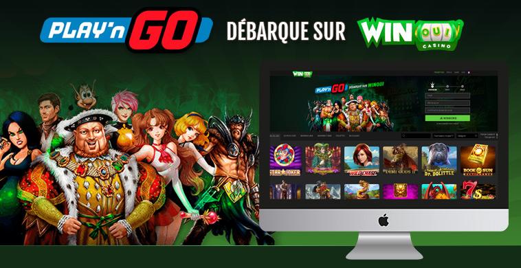 Les jeux Play'n GO débarquent sur le casino WinOui