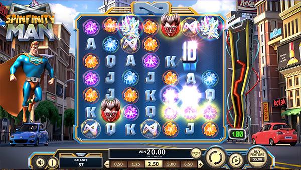 Machine à sous Spinfinity Man betsoft Gaming