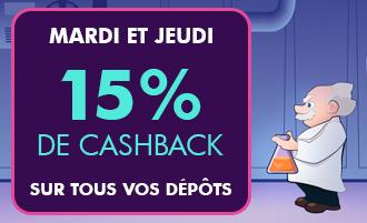 Bonus casino Madnix : 15% CashBack