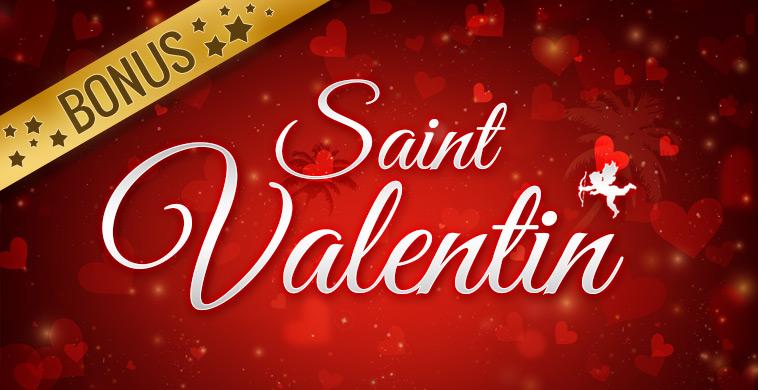 Bonus casino spécial Saint Valentin 2020