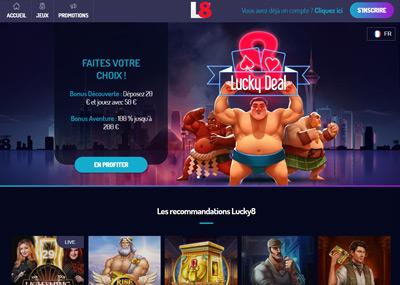 Page d'accueil du casino Cresus