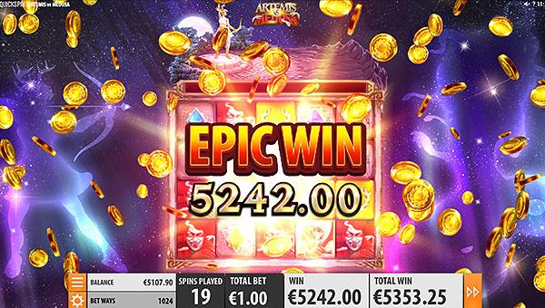 Gagner le jackpot machine à sous Artemis VS Medusa