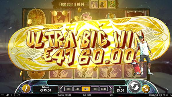 Gagner le jackpot en argent réel sur la machine à sous gratuite Skate for Gold !
