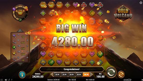 Gagner le jackpot sur la machine à sous Gold Volcano de Play'n Go !