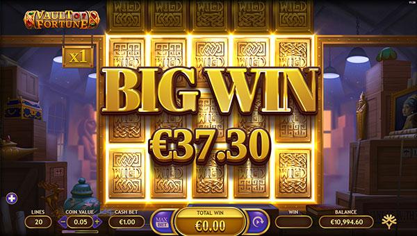 Gagner jackpot slot Vault of Fortune